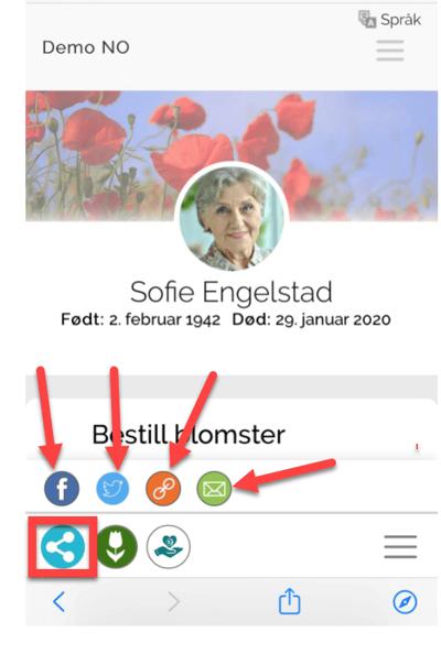 dele_minnesidefunksjon paa mobil